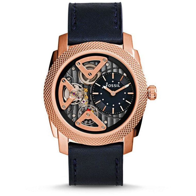 Fossil Machine Watch for Men - Analog Leather Band - ME1158