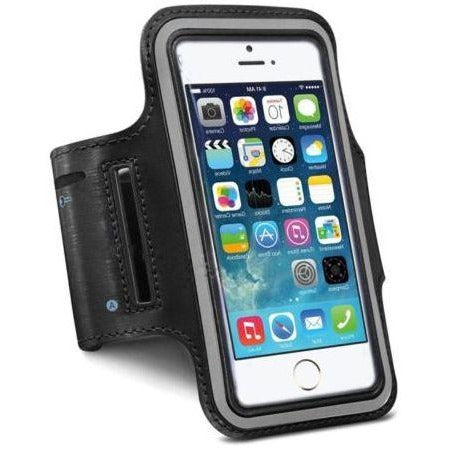Sports Running Armband Mobile Cover Holder for iPhone 6 & Samsung S5, Black