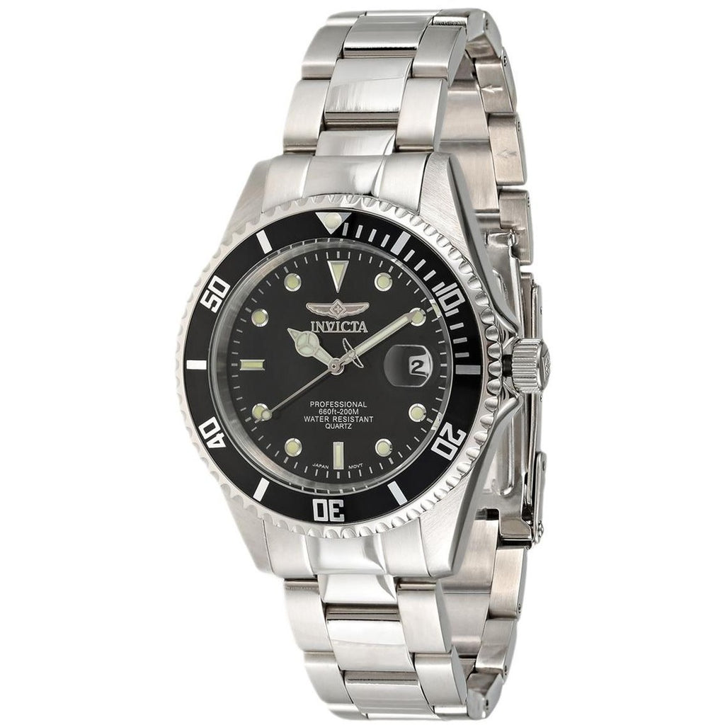 Invicta Pro Diver Men's Black Dial Stainless Steel Band Watch - INVICTA-8932OB - 3alababak