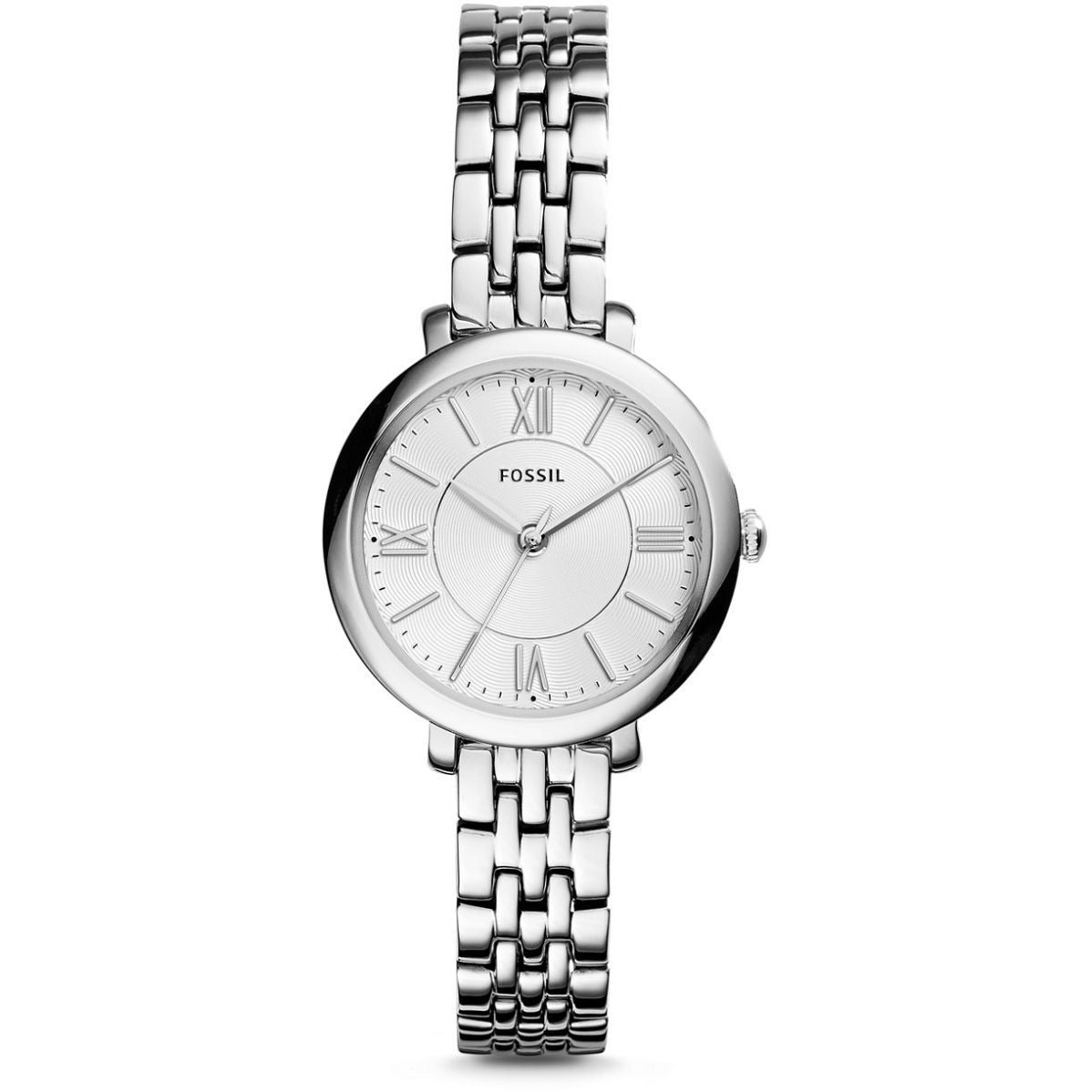 Fossil Women's Silver Dial Stainless Steel Band Watch - ES3797