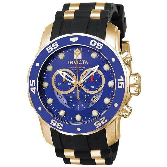 Invicta Men's 6983 Pro Diver Collection Chronograph Blue Dial Black Polyurethane Watch - 3alababak