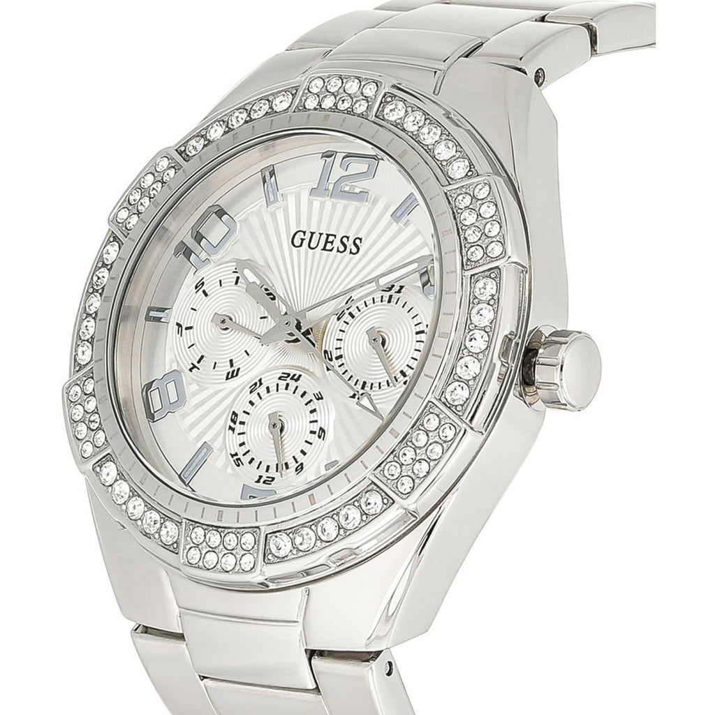 Guess Women's Silver Dial Stainless Steel Band Watch - W0729L1