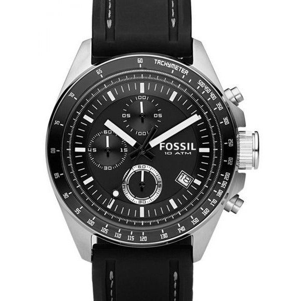 Fossil Dexter Watch for Men - Analog Silicone Band - CH2573