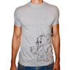 Phoenix GREY Round Neck Printed T-Shirt Men(jerry)
