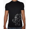Phoenix BLACK Round Neck Printed T-Shirt Men(jerry)