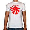 Phoenix WHITE Round Neck Printed T-Shirt Men(just be yourself)