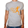 Phoenix GREY Round Neck Printed T-Shirt Men(keep running )