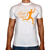 Phoenix WHITE Round Neck Printed T-Shirt Men(keep running )