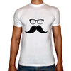 Phoenix WHITE Round Neck Printed T-Shirt Men(mustache)