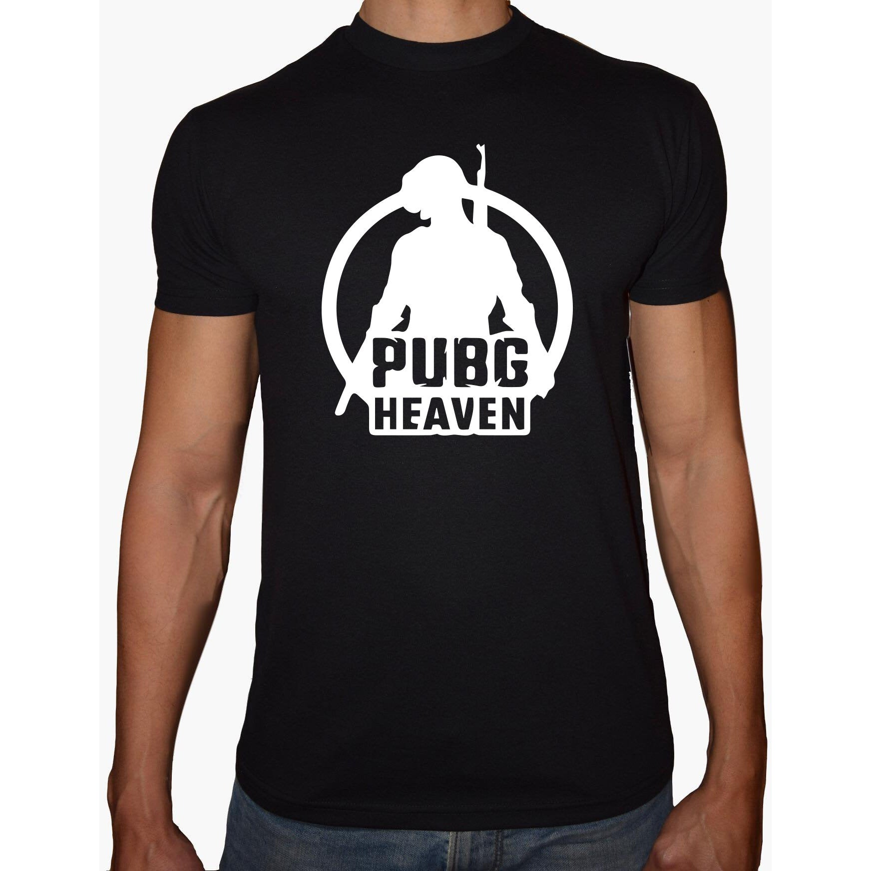 Phoenix BLACK Round Neck Printed T-Shirt Men (PUBG HEAVEN)