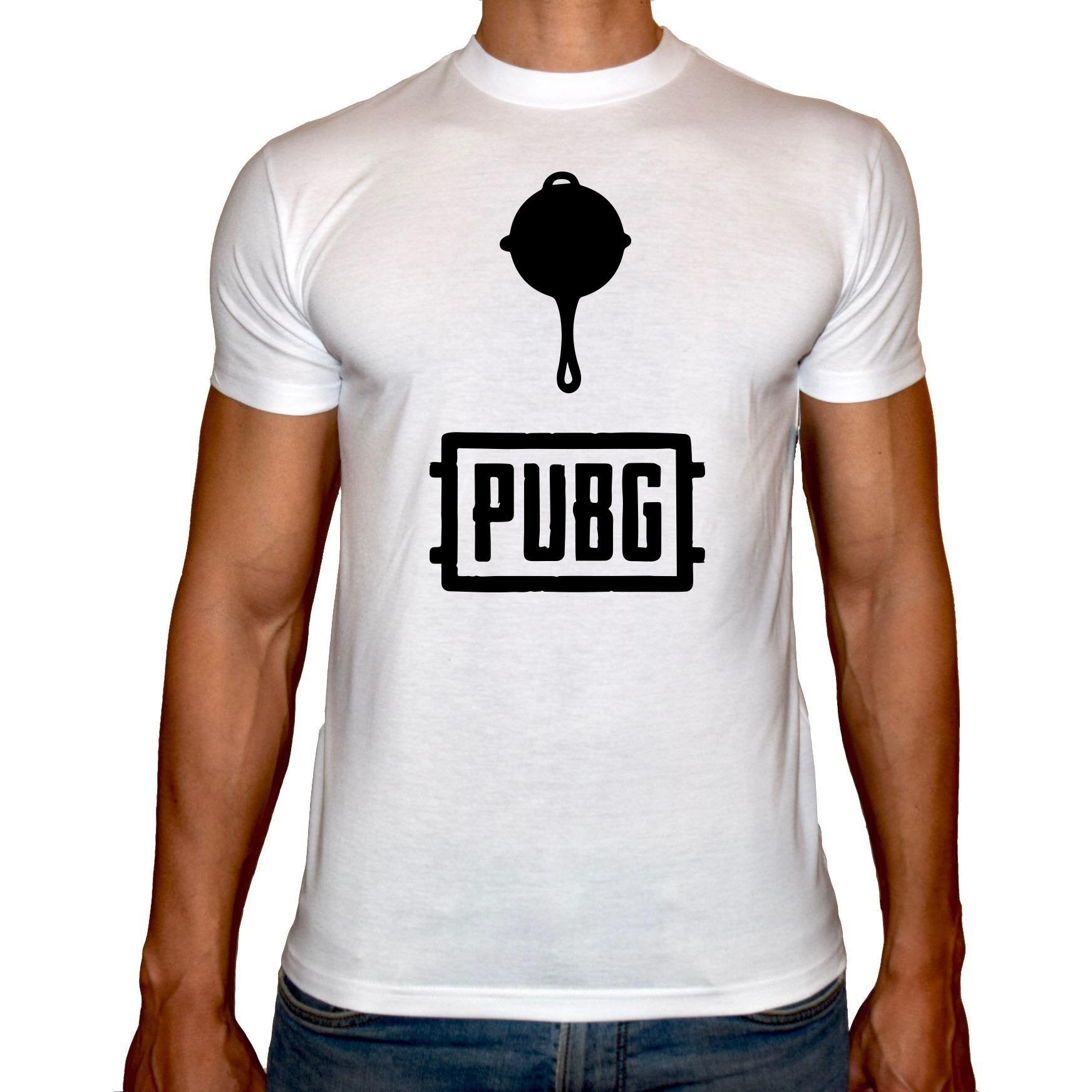 Phoenix WHITE Round Neck Printed T-Shirt Men (PUBG TASA)
