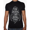 Phoenix BLACK Round Neck Printed T-Shirt Men(stop dreaming)