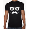 Phoenix BLACK Round Neck Printed T-Shirt Men(sunglasses)