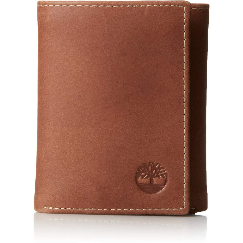 Timberland Leather Trifold Wallets For Men -Brown - 3alababak