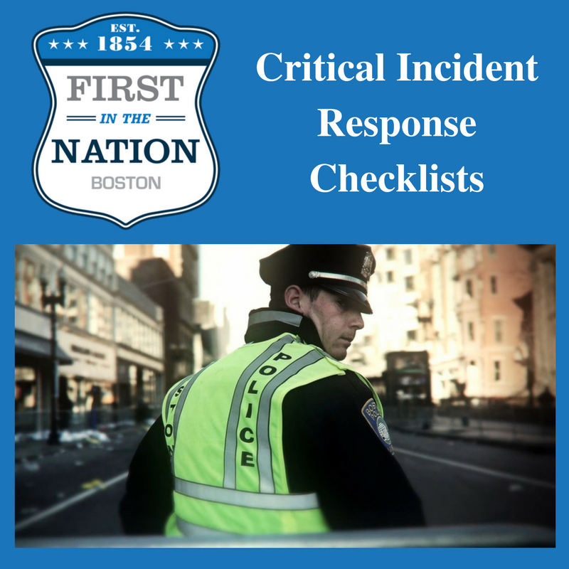 Critical Incident Response Checklists (Package 2)
