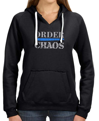 Order over Chaos Brushed V-Neck Hoodie - First In The Nation-1854 LLC - 1