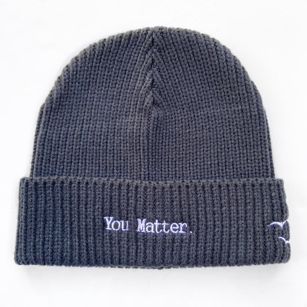 YOU MATTER, Dark Gray  Beanie