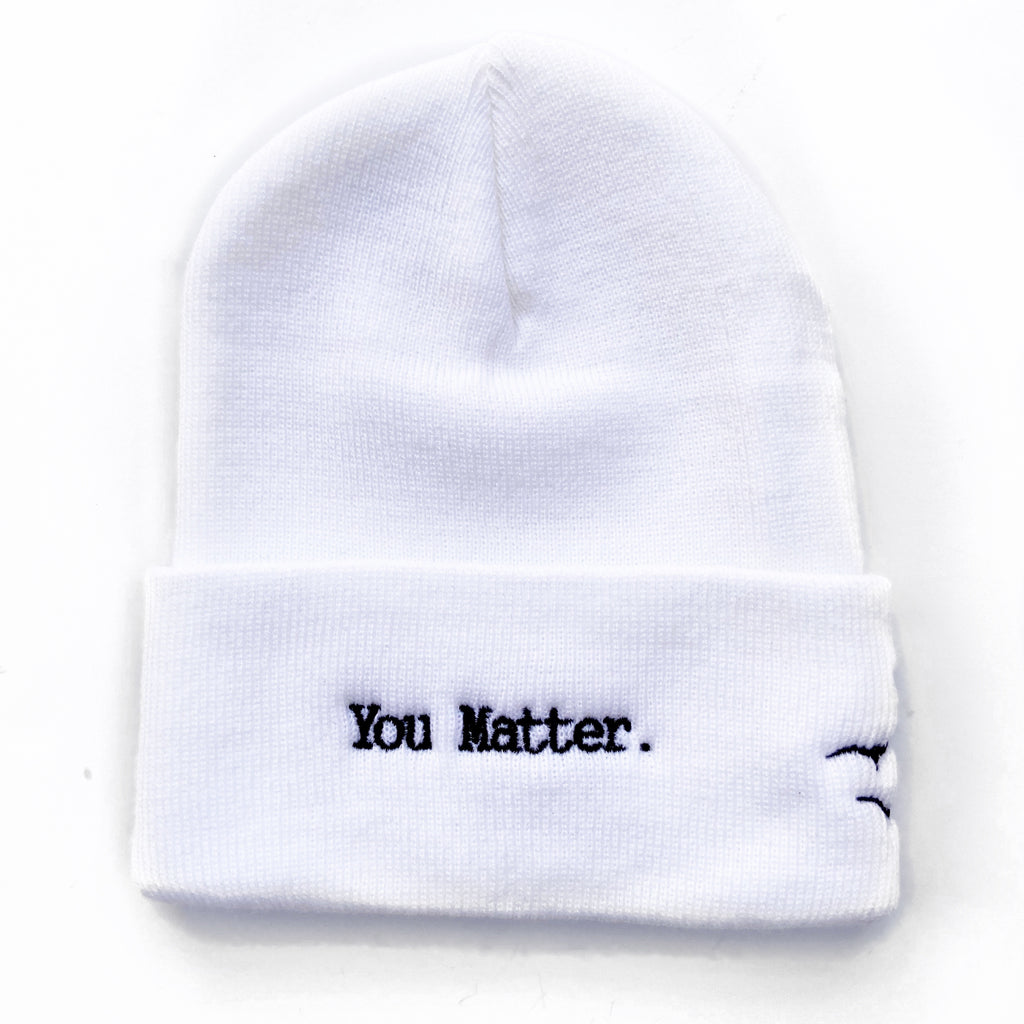 YOU MATTER, White Beanie