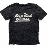 BE A KIND HUMAN, Black Marble T-Shirt