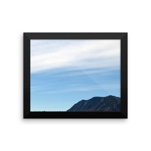 Mount Cheyenne Framed photo paper poster