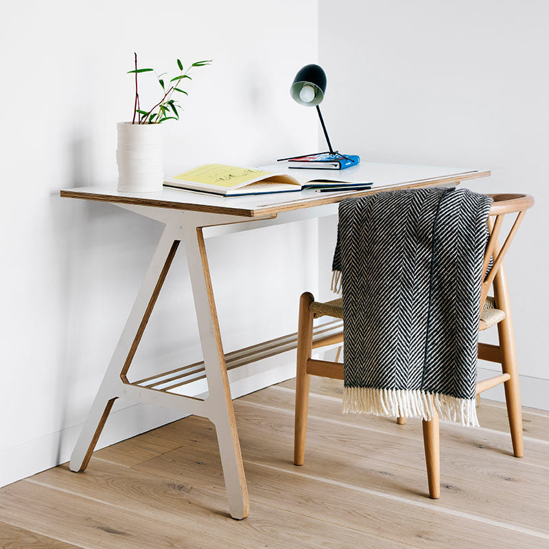 ByALEX FSC Birch Plywood White A Desk -  - Office Desk - ByALEX - Space & Shape - 1