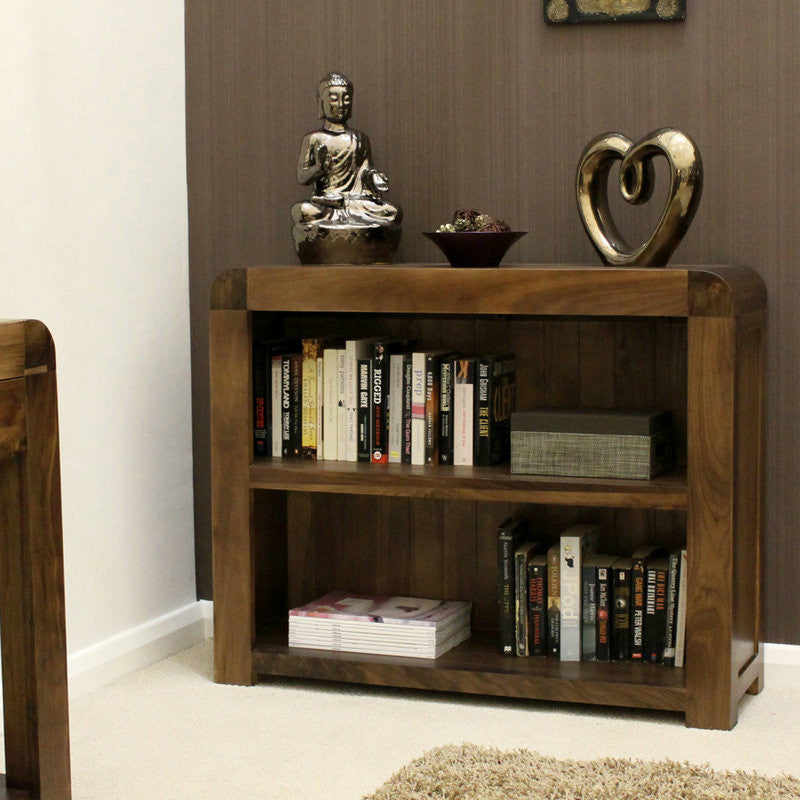 Shiro Solid Walnut Low Bookcase -  - Bookcase - Baumhaus - Space & Shape - 1