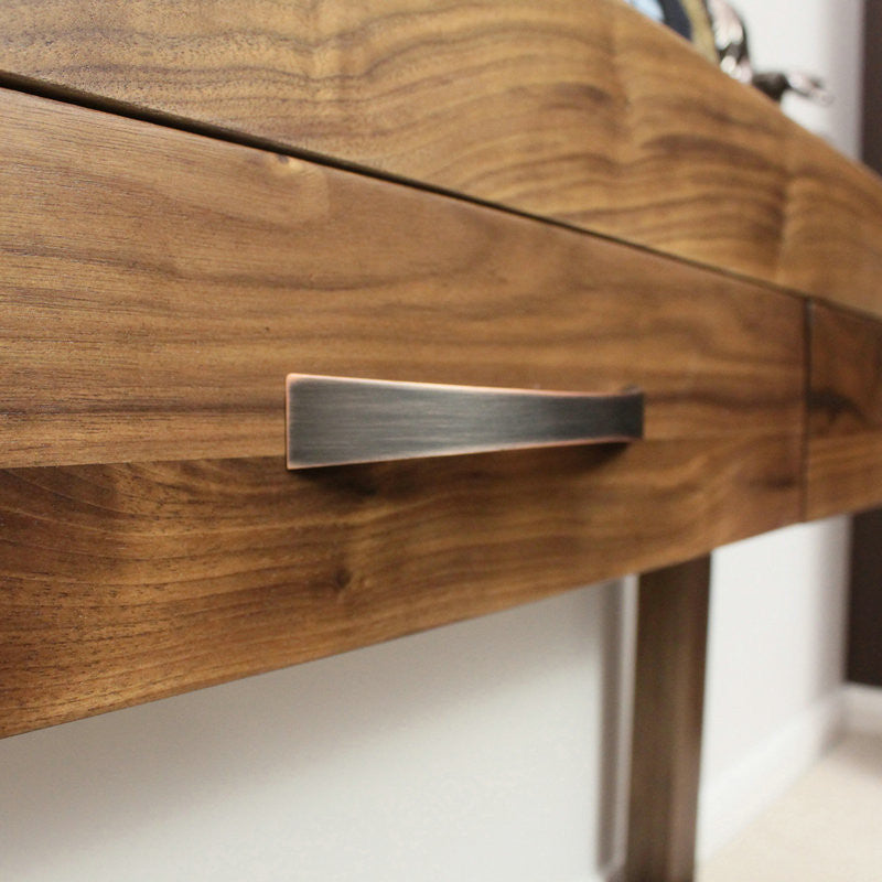 Shiro Solid Walnut Console Table-Console Table- Space & Shape