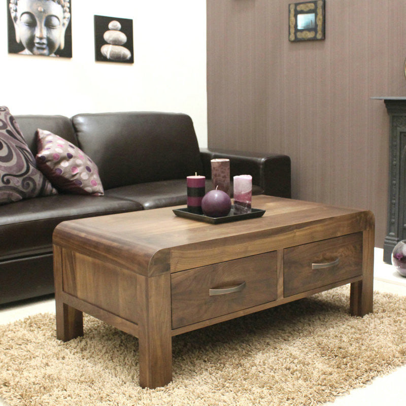 Shiro Solid Walnut Four Drawer Coffee Table -  - Coffee Table - Baumhaus - Space & Shape - 1