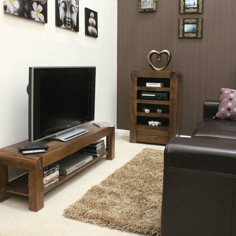 Shiro Solid Walnut Low TV Cabinet -  - TV Unit - Baumhaus - Space & Shape - 1
