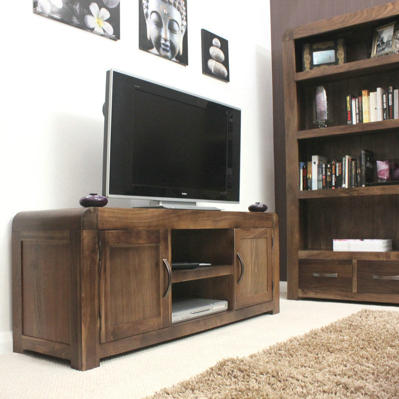 Shiro Solid Walnut Widescreen Television Cabinet -  - TV Unit - Baumhaus - Space & Shape - 1