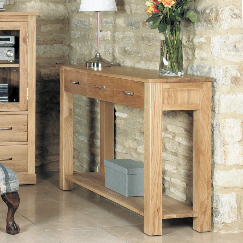 Mobel Solid Oak Console Table-Console Table- Space & Shape