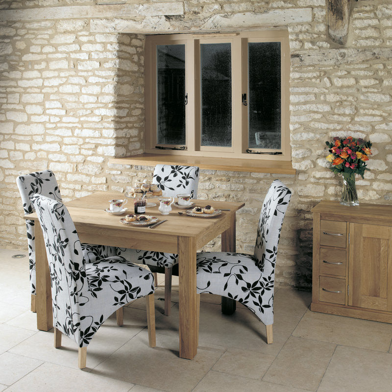 mobel solid oak dining table 4 seater dining table space shape