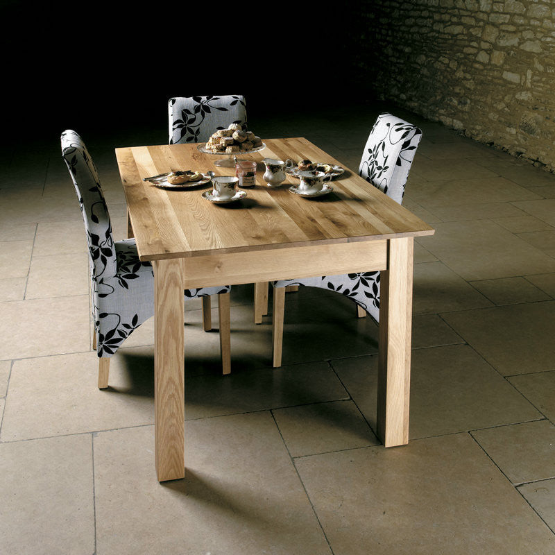 mobel solid oak 150cm dining table 4 6 seater dining table