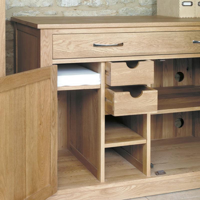 mobel solid oak hidden home office office desk space shape