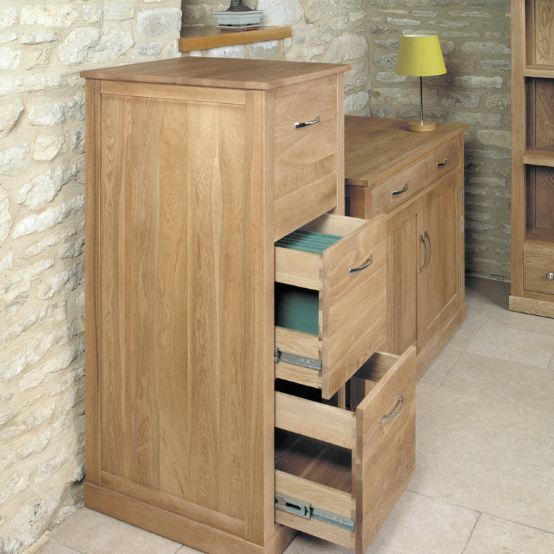Mobel Solid Oak 3 Drawer Filing Cabinet -  - Filing Cabinet - Baumhaus - Space & Shape - 1