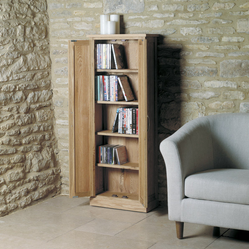 Mobel Solid Oak DVD Storage Cupboard -  - DVD/CD Storage - Baumhaus - Space & Shape - 1