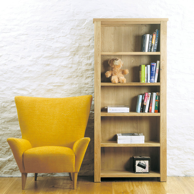 Aston Solid Oak Large Open Bookcase - - Bookcase - Baumhaus - Space & Shape  -