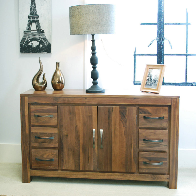 Mayan Solid Walnut 6 Drawer Sideboard -  - Sideboard - Baumhaus - Space & Shape - 1