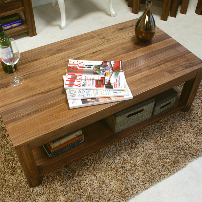 Mayan Solid Walnut Open Coffee Table -  - Coffee Table - Baumhaus - Space & Shape - 1
