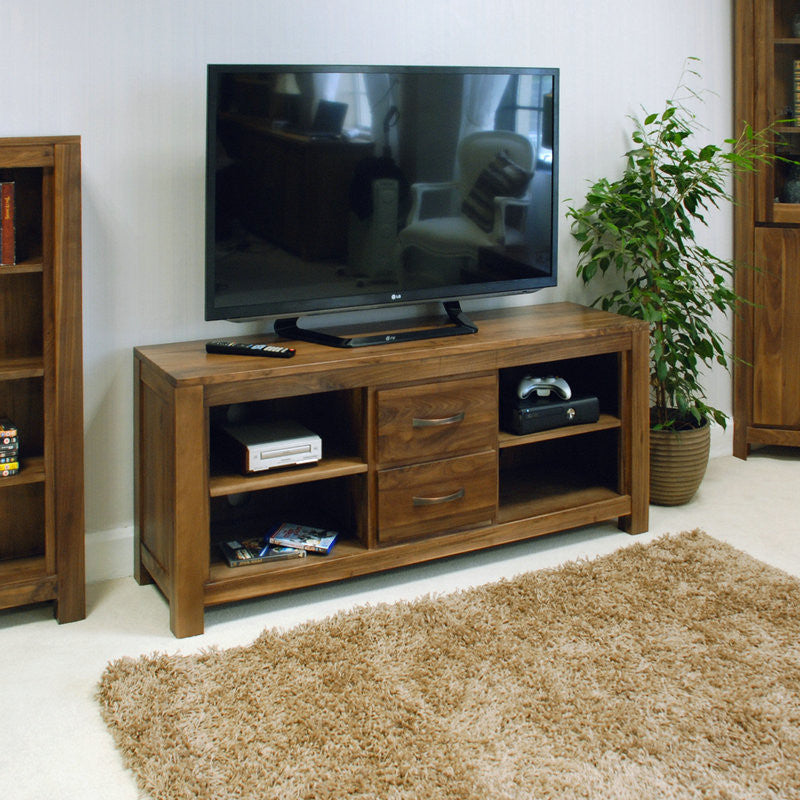 Mayan Solid Walnut Widescreen Television Cabinet-TV Unit- Space & Shape