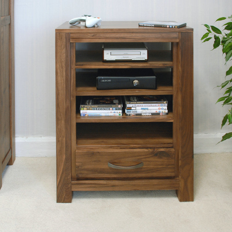Mayan Solid Walnut Entertainment Ancillaries Storage Unit-TV Unit- Space & Shape