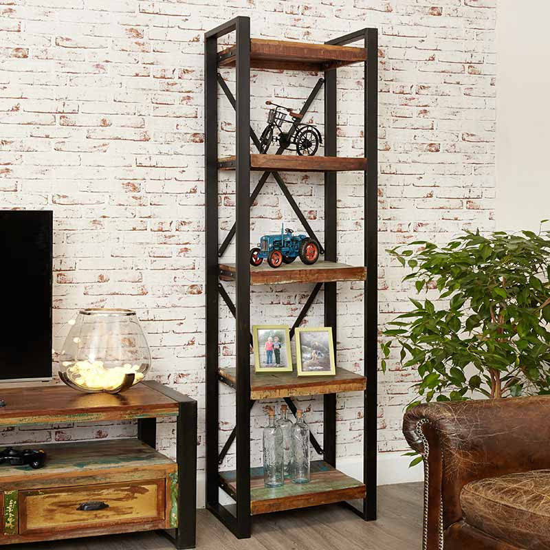 Urban Chic Reclaimed Wood Alcove Bookcase-Bookcase- Space & Shape