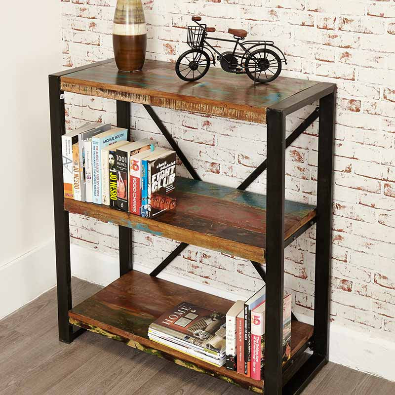 Urban Chic Reclaimed Wood Low Bookcase-Bookcase- Space & Shape