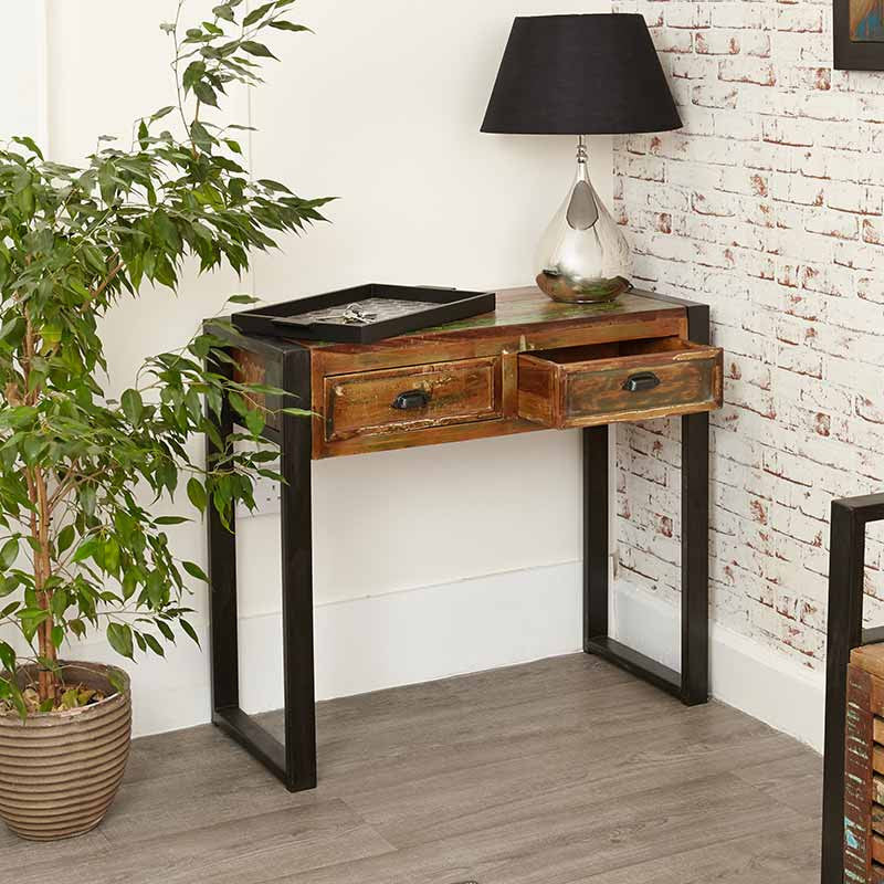 Urban Chic Reclaimed Wood Console Table-Console Table- Space & Shape