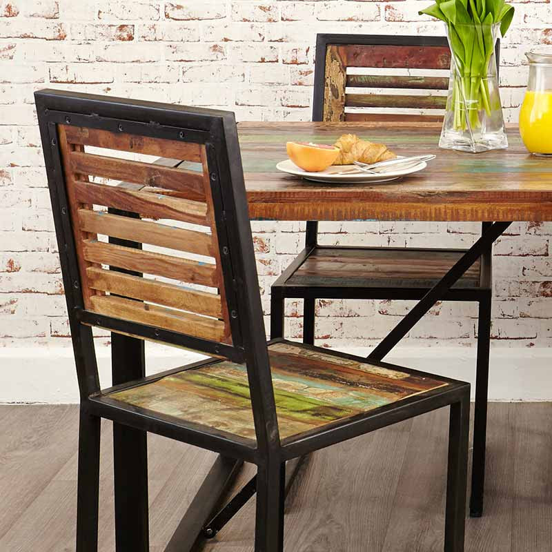 Urban Chic Reclaimed Wood Dining Chair - Set Of 2 -  - Dining Chair - Baumhaus - Space & Shape - 1