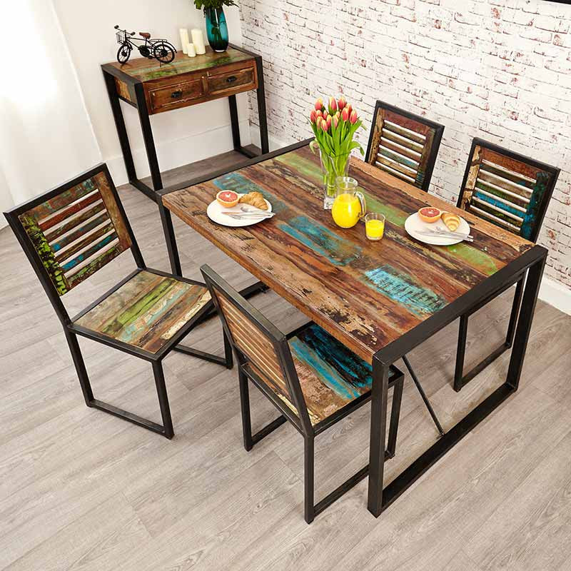 Urban Chic Reclaimed Wood Dining Table Small-Dining Table- Space & Shape