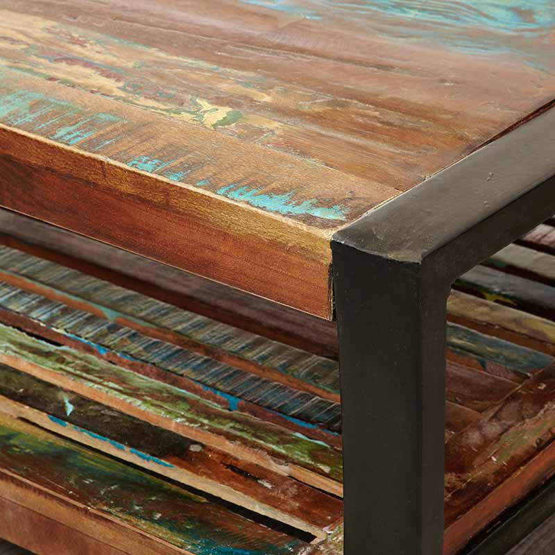 Urban Chic Reclaimed Wood Square Coffee Table