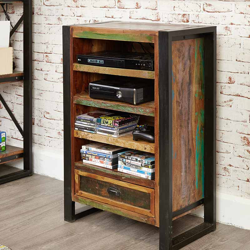 Urban Chic Reclaimed Wood Entertainment Cabinet-TV Unit- Space & Shape