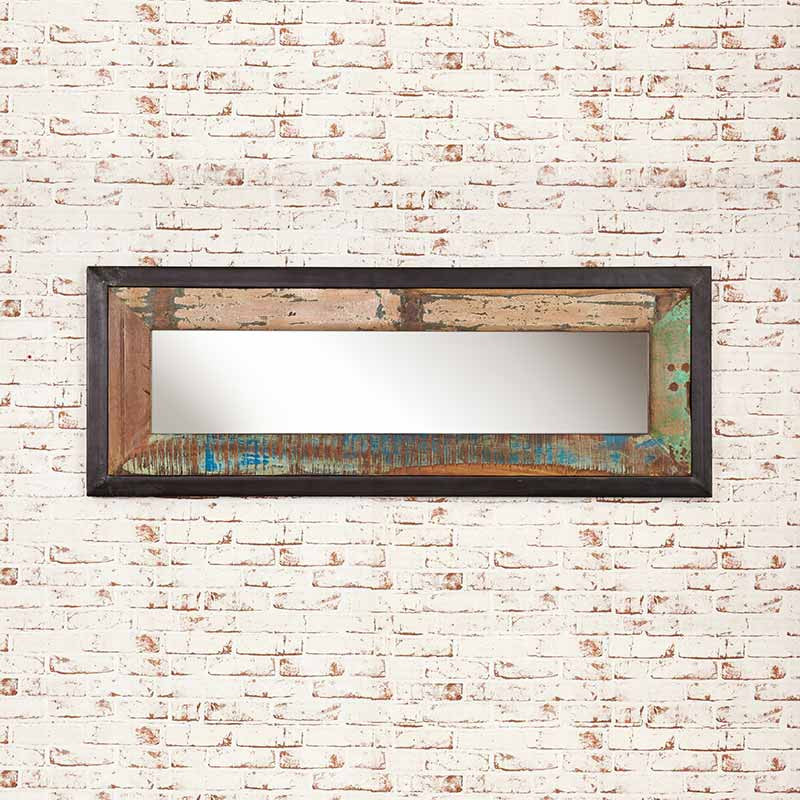 Urban Chic Reclaimed Wood Mirror Medium (Hangs landscape or portrait)-Mirror- Space & Shape