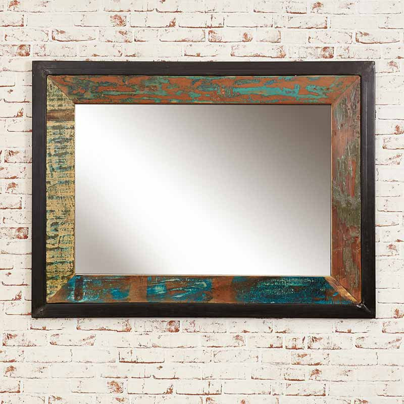 Urban Chic Reclaimed Wood Mirror Large (Hangs landscape or portrait)-Mirror- Space & Shape